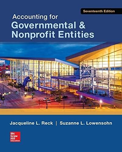 Accounting for Governmental & Nonprofit Entities 17 9780078025822