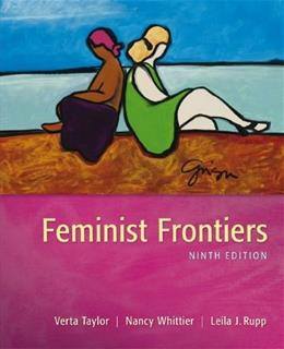 Feminist Frontiers, by Taylor, 9th Edition 9780078026621