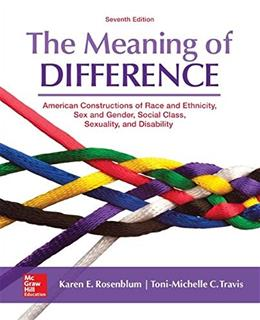 The Meaning of Difference: American Constructions of Race and Ethnicity, Sex and Gender, Social Class, Sexuality, and Disability 7 9780078027024