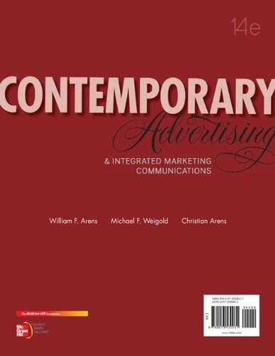 Contemporary Advertising and Integrated Marketing Communications, 14th Edition 9780078028953