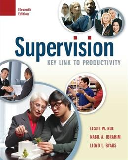 Supervision: Key Link to Productivity 11 9780078029226