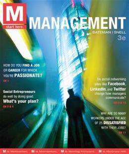 M: Management, by Bateman, 3rd Edition 9780078029523
