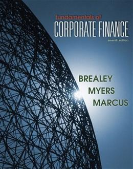 Fundamentals of Corporate Finance, by Brealey, 7th Edition 9780078034640
