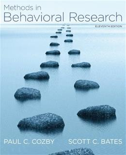 Methods in Behavioral Research 11 9780078035159
