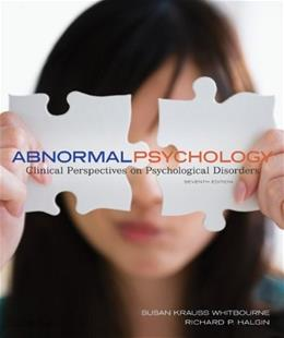 Abnormal Psychology: Clinical Perspectives on Psychological Disorders 7 9780078035272