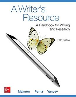 A Writers Resource (comb-version) Student Edition 5 9780078036187