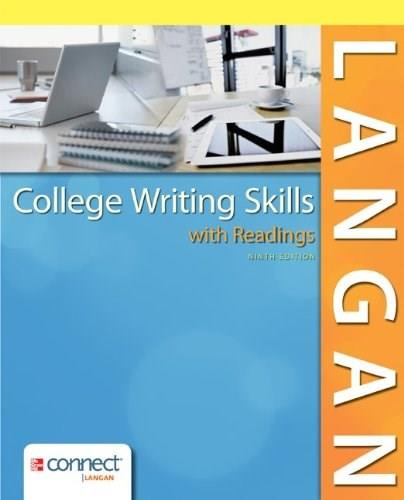 College Writing Skills with Readings 9 9780078036279