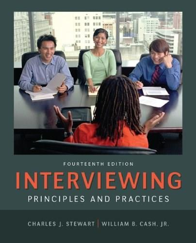 Interviewing: Principles and Practices 14 9780078036941