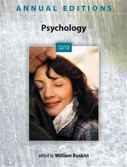 Annual Editions: Psychology 12/13, by Buskist, 43rd Edition 9780078051128
