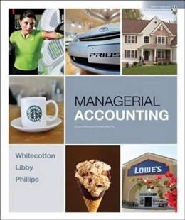 Managerial Accounting, by Whitecotton 9780078110771