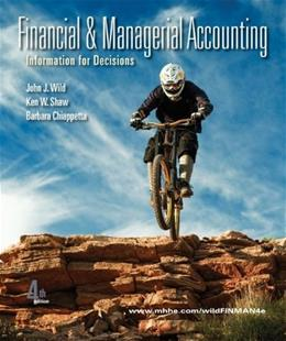 Financial and Managerial Accounting, by Wild, 4th Edition 9780078110887