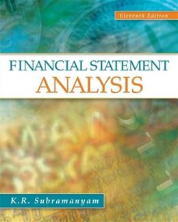 Financial Statement Analysis, by Subramanyam, 11th Edition 9780078110962