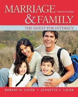 Marriage and Family: The Quest for Intimacy 8 9780078111624