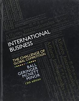 International Business: The Challenge of Global Competition 13 9780078112638