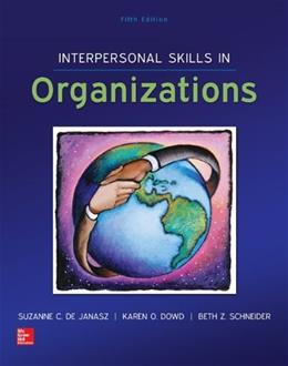 Interpersonal Skills in Organizations 5 9780078112805