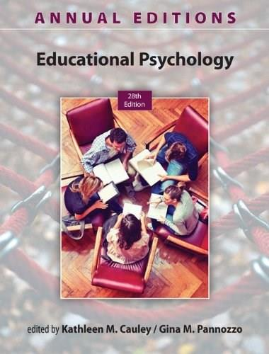 Annual Editions: Educational Psychology, 28/e 9780078136078