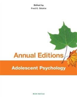 Annual Editions: Adolescent Psychology, 9/e 9780078136177