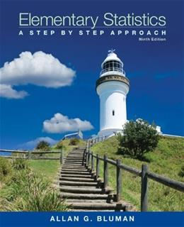 Elementary Statistics: A Step by Step Approach, by Bluman, 9th Edition 9 PKG 9780078136337