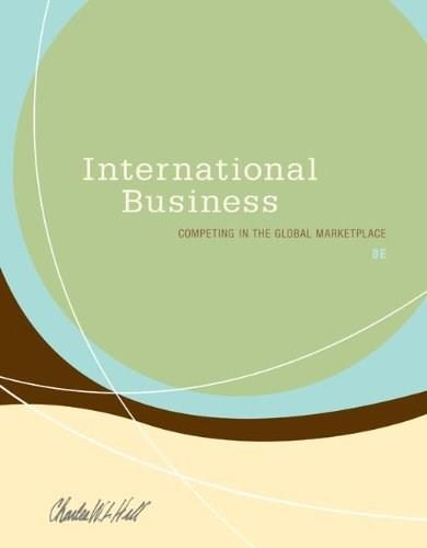 International Business: Competing in the Global Marketplace, by Hill, 8th Edition 9780078137198
