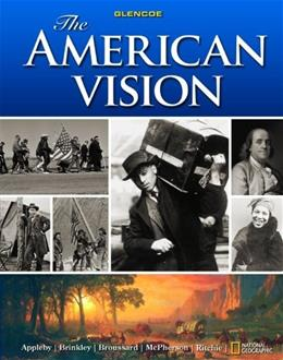American Vision, by Appleby, Grades 9-12 9780078799846