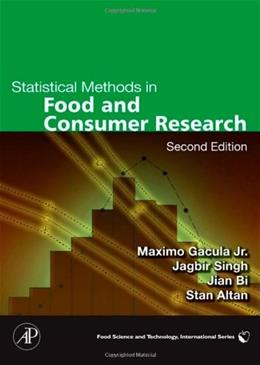 Statistical Methods in Food and Consumer Research, by Gacula, 2nd Edition 9780123737168
