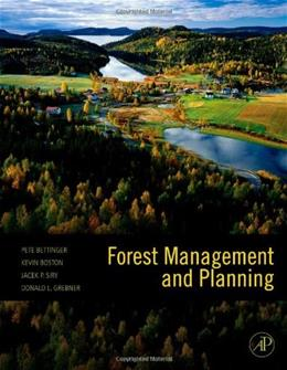 Forest Management and Planning, by Bettinger 9780123743046
