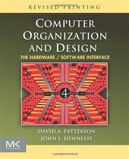Computer Organization and Design, by Patterson, 5th Revised Edition 5 w/CD 9780123747501