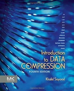 Introduction to Data Compression, by Sayood, 4th Edition 9780124157965