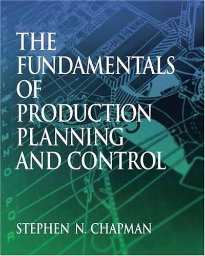 Fundamentals of Production Planning and Control, by Chapman 9780130176158