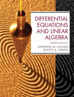 Differential Equations and Linear Algebra (3rd Edition) 9780130457943