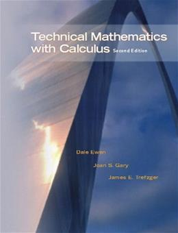 Technical Mathematics with Calculus, 2nd Edition 2 w/CD 9780130488220