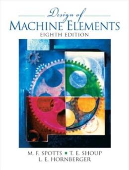 Design of Machine Elements, by Spotts. 8th Edition 8 w/CD 9780130489890
