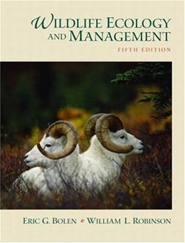 Wildlife Ecology and Management (5th Edition) 9780130662507