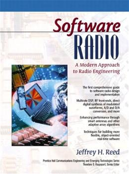Software Radio: A Modern Approach to Radio Engineering, by Reed 9780130811585