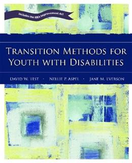 Transition Methods for Youth with Disabilities, by Test 9780131130647