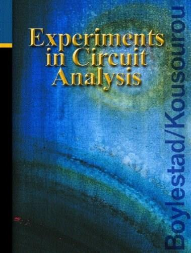 Experiments in Circuit Analysis, by Boylestad, Lab Manual 9780131141865
