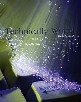 Technically Write!, by Blicq, 6th Edition 9780131148789