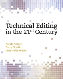 Technical Editing in the 21st Century, by Amare 9780131196773