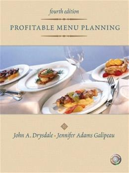 Profitable Menu Planning, by Drysdale, 4th Edition 4 w/CD 9780131196803