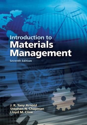 Introduction to Materials Management (7th Edition) 9780131376700