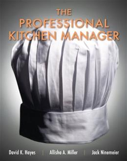 Professional Kitchen Manager, by Hayes 9780131391741