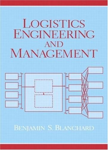 Logistics Engineering and Management, by Blanchard, 6th Edition 9780131429154