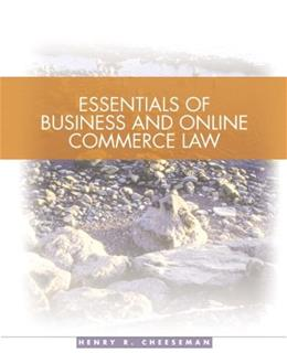 Essentials of Business and Online Commerce Law 1 9780131440470