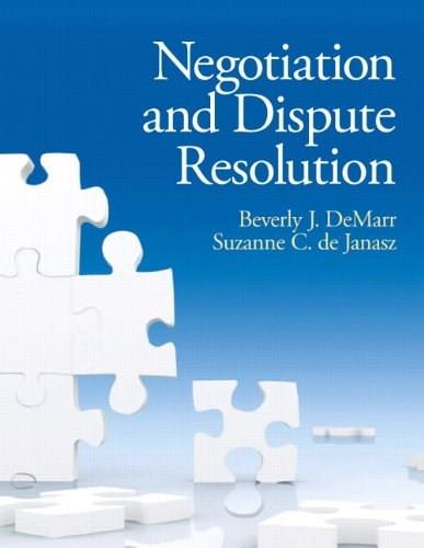 Negotiation and Dispute Resolution 1 9780131577534