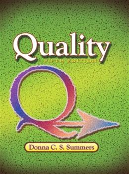 Quality (5th Edition) 9780131592490