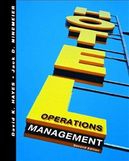 Hotel Operations Management, by Hayes, 2nd Edition 9780131711495