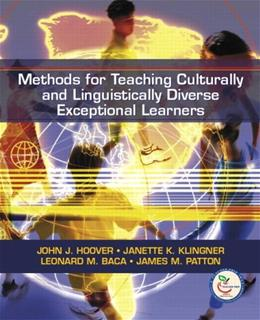 Methods for Teaching Culturally and Linguistically Diverse Exceptional Learners, by Hoover 9780131720237