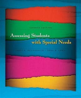 Assessing Students with Special Needs (7th Edition) 9780131961913