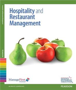 Hospitality and Restaurant Management, by National Restaurant Association, 2nd Edition 2 PKG 9780132116138