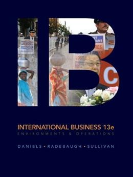 International Business, by Daniels, 13th Edition 9780132128421
